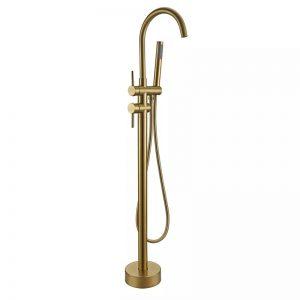 Vrijstaande badkraan goud
